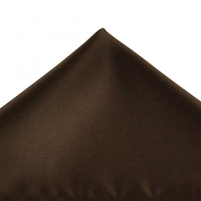 Plain Chocolate Brown Pocket Square Handkerchief