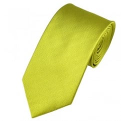 Plain Citrus Green Silk Tie