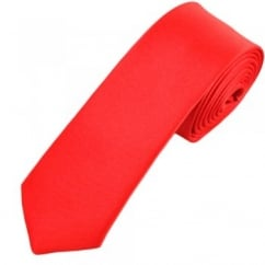 Plain Coral 7cm Narrow Tie