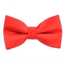 Plain Coral Boys Bow Tie