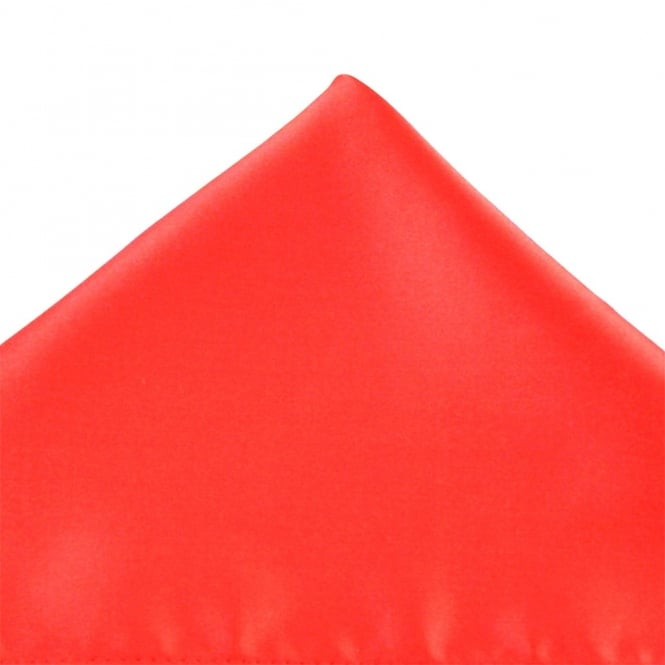 Plain Coral Pocket Square Handkerchief