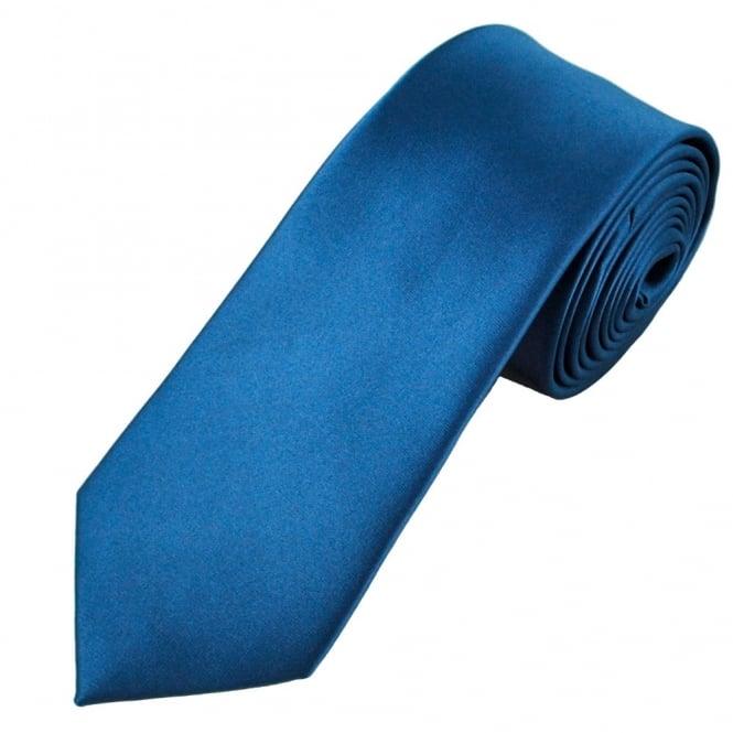 plain dark blue 7cm narrow tie
