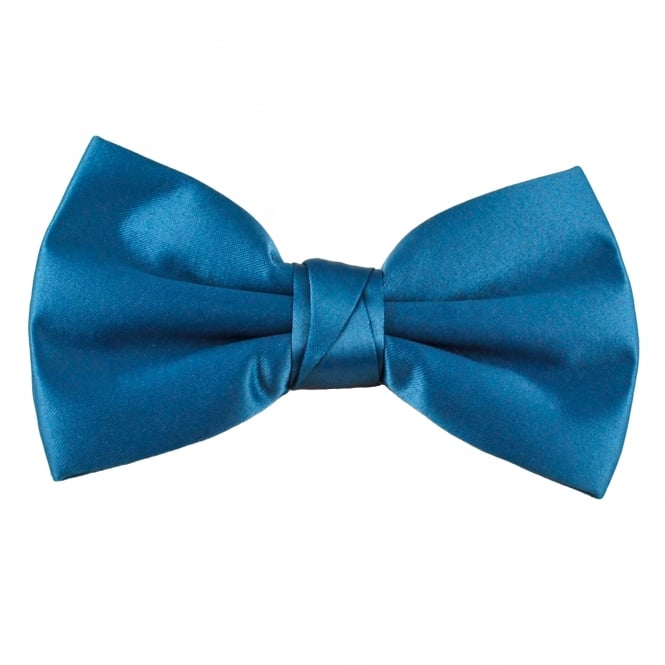 Plain Dark Blue Men's Bow Tie