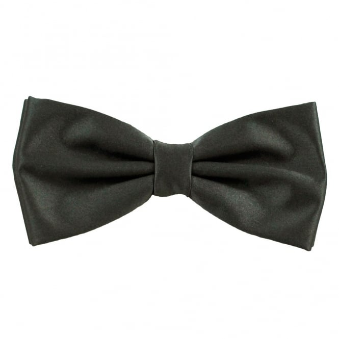 Plain Dark Grey Bow Tie