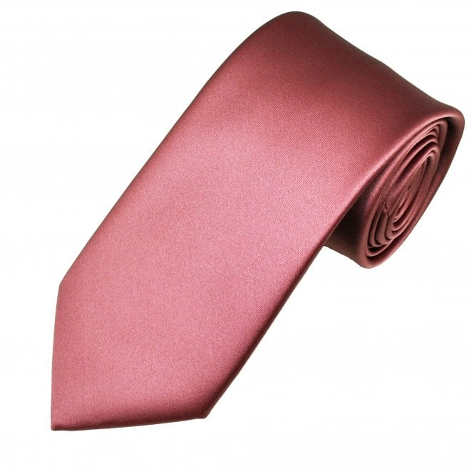 Plain Dark Mauve Pink Men's Satin Tie
