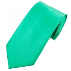 Plain Dark Mint Green Satin Tie