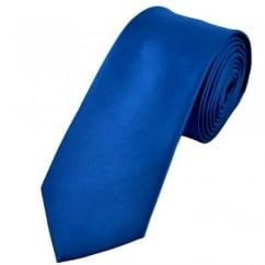 Plain Dark Royal Blue 7cm Narrow Tie