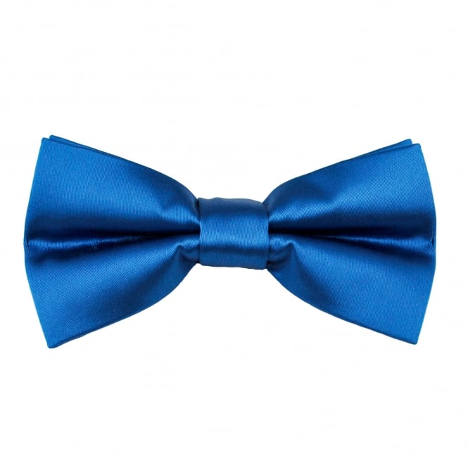 Plain Dark Royal Blue Boys Bow Tie