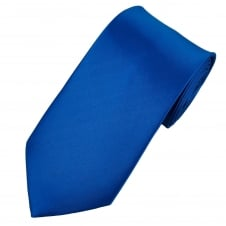 Plain Dark Royal Blue Extra Long Tie