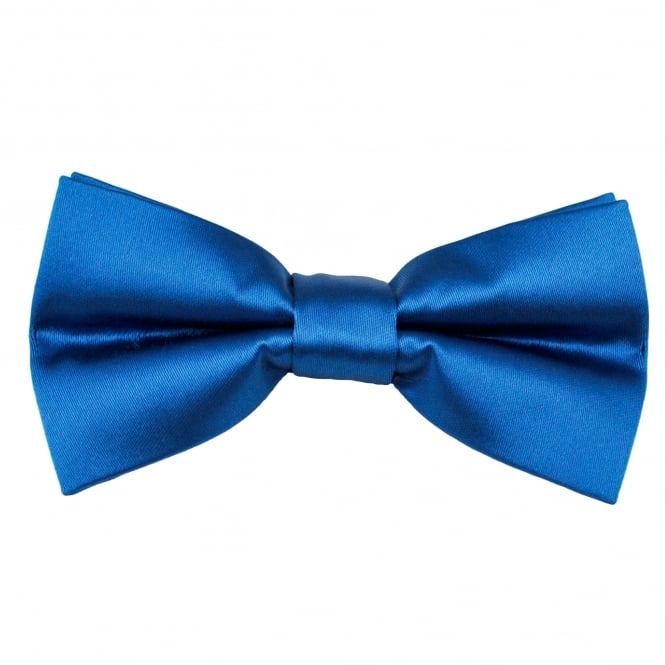 Plain Dark Royal Blue Men's Bow Tie