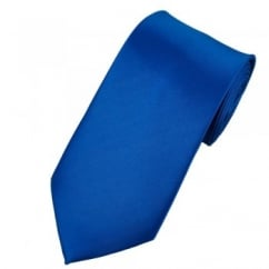 Plain Dark Royal Blue Satin Tie