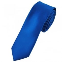 Plain Dark Royal Blue Skinny Tie