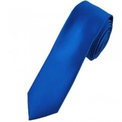 Plain Dark Royal Blue Super Skinny Tie