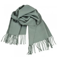 Plain Dove Grey Men's Scarf