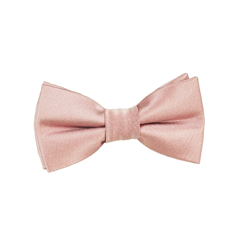 b518ac1ba2fc Plain Dusky Pink Boys Silk Bow Tie from Ties Planet UK