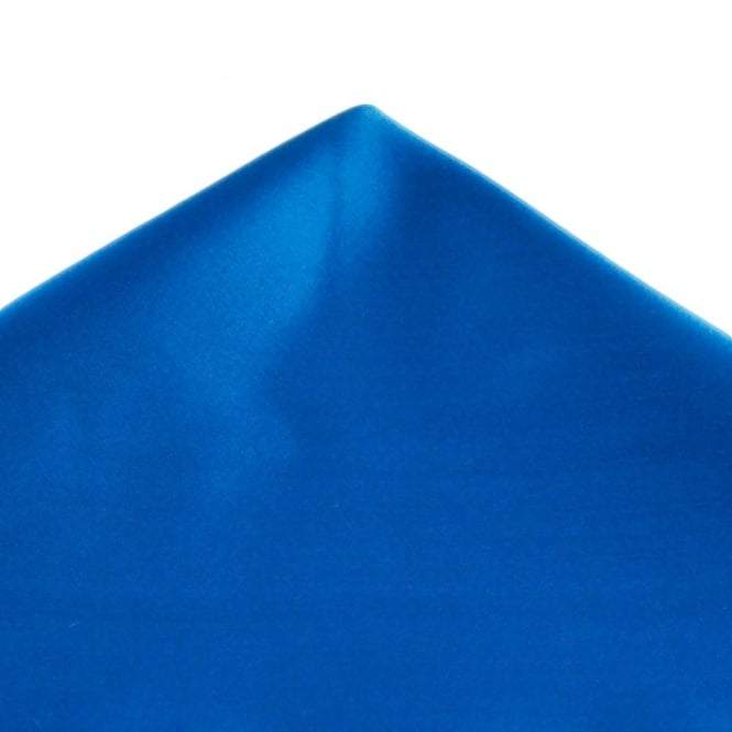 Plain Electric Blue Satin Handkerchief