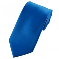 Plain Electric Blue Satin Tie