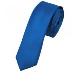 Plain Electric Blue Skinny Tie