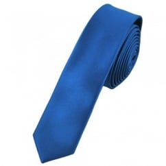 Plain Electric Blue Super Skinny Tie