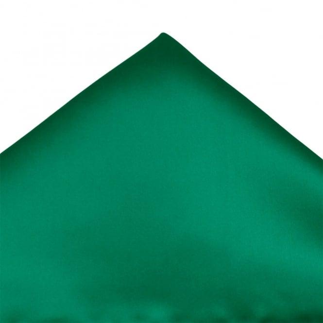 plain emerald green pocket square handkerchief