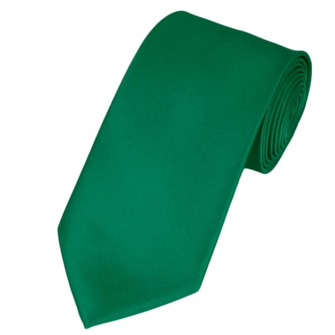 plain emerald green satin tie