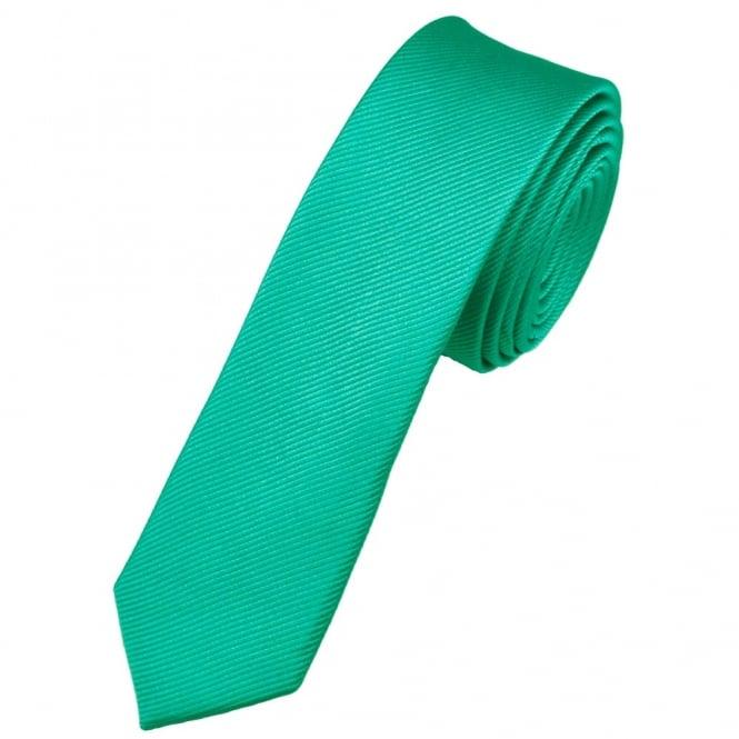 plain emerald green silk skinny tie
