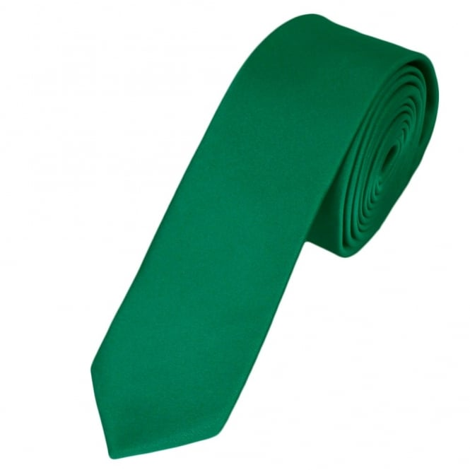 plain emerald green skinny tie