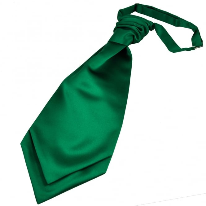 Plain Forest Green Scrunchie Wedding Cravat