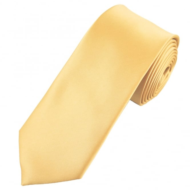 Plain Gold 7cm Narrow Tie