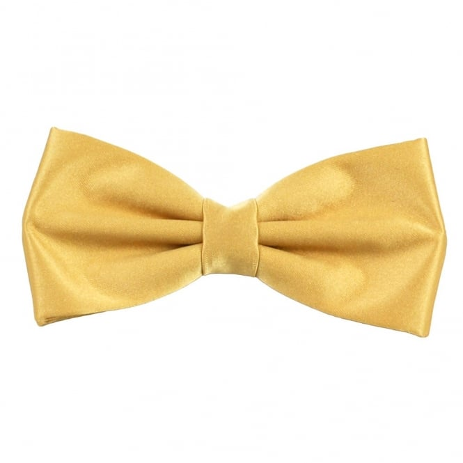 Plain Gold Bow Tie