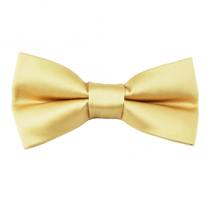 Plain Gold Boys Bow Tie