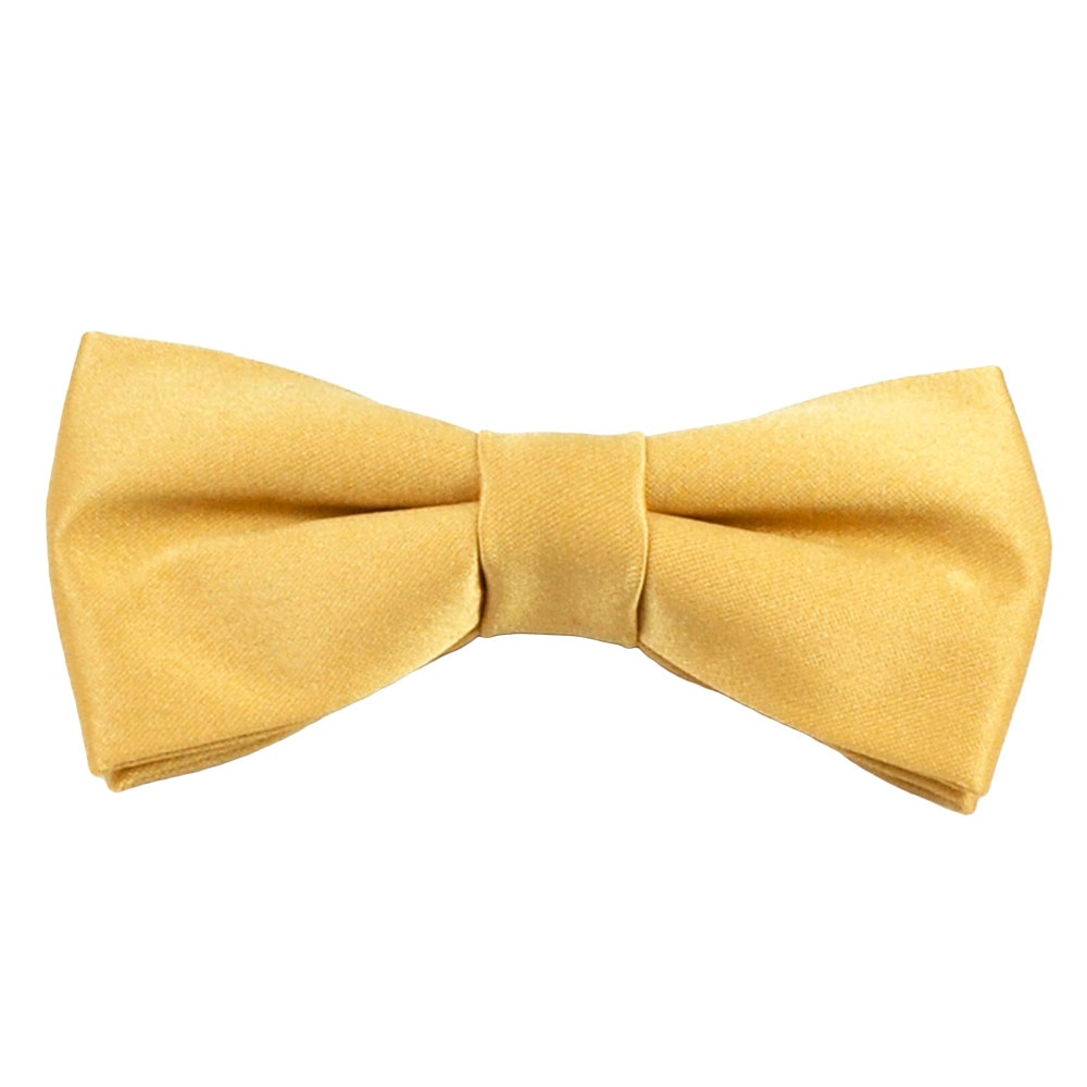 plain gold boys bow tie from ties planet uk