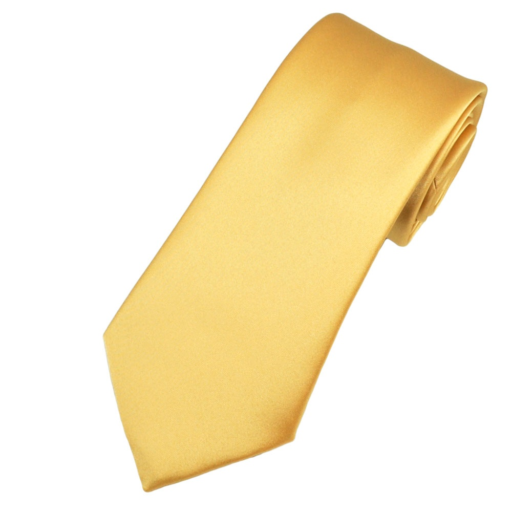 plain gold boys tie from ties planet uk