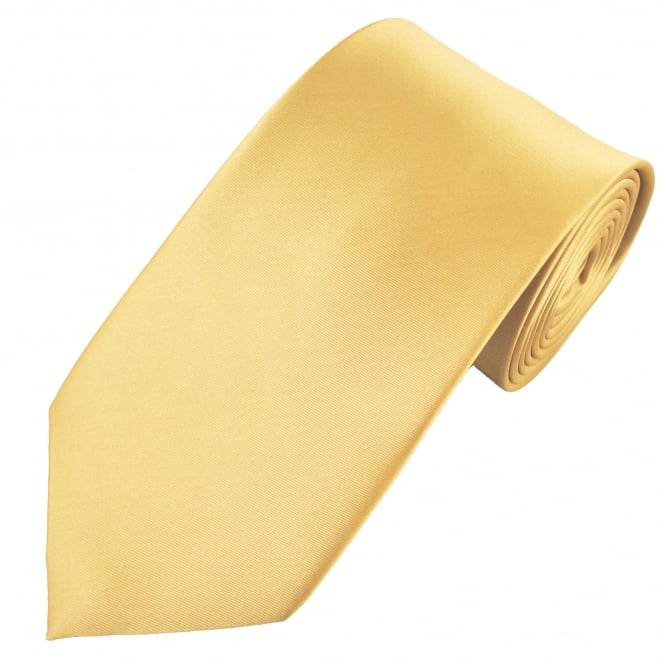 Plain Gold Extra Long Tie