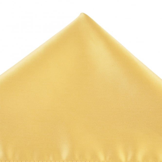 Plain Gold Pocket Square Handkerchief
