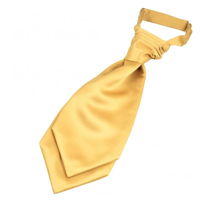 Plain Gold Scrunchie Wedding Cravat