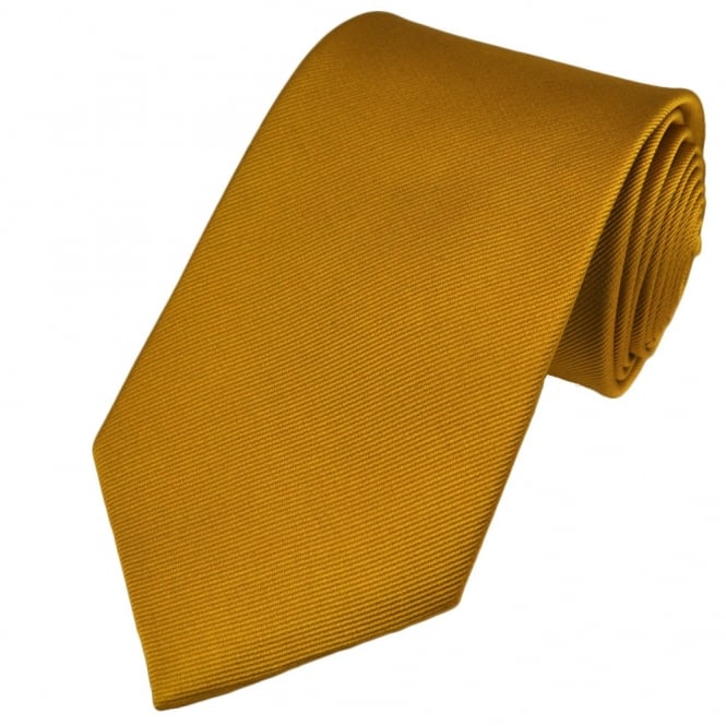 Plain Gold Silk Tie