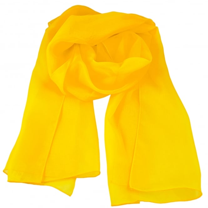 Plain Golden Yellow Chiffon Scarf