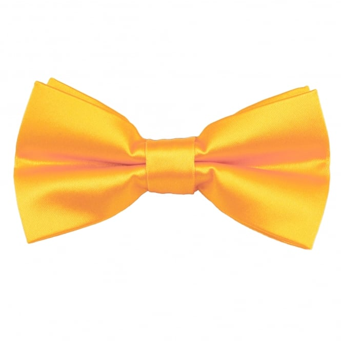 Plain Golden Yellow Men's Bow Tie