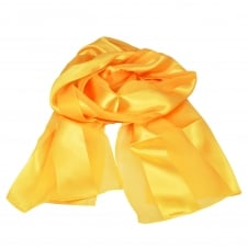 Plain Golden Yellow Self-Stripe Satin Scarf