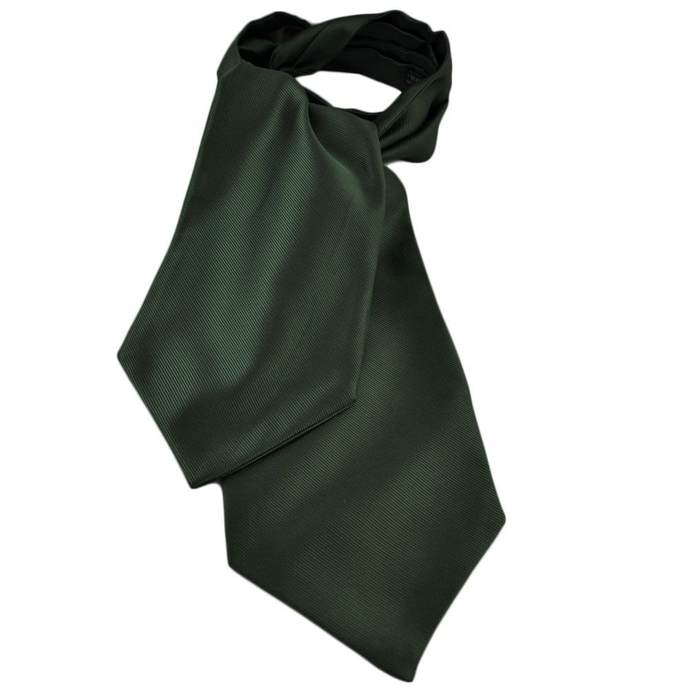 plain green ribbed self tie casual day cravat from ties