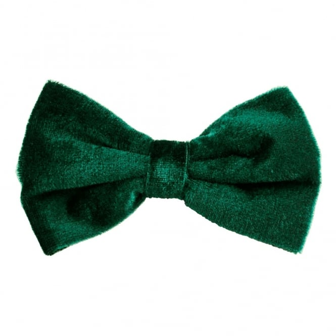 Plain Green Velvet Men's Bow Tie