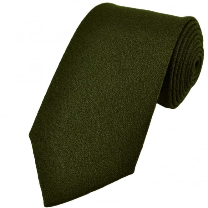 Plain Green Wool Tie from Ties Planet UK