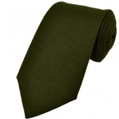 Plain Green Wool Tie