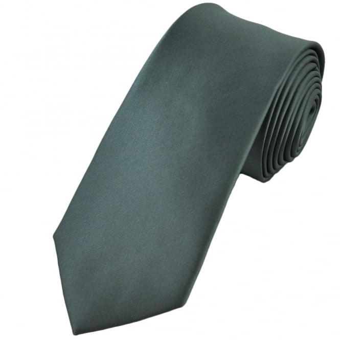 Plain Grey 7cm Narrow Tie