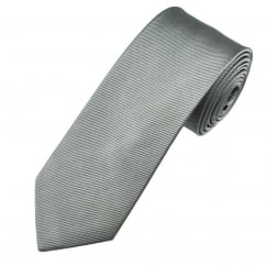 Plain Grey Men's Silk Tie