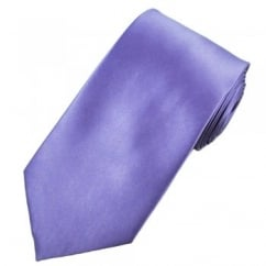 Plain Heather Purple Satin Tie