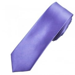 Plain Heather Purple Skinny Tie