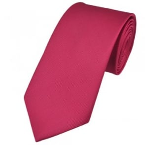 Plain Hot Pink Silk Tie