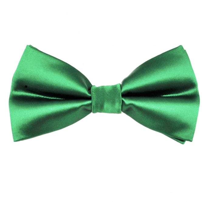 Plain Hunter Green Men's Bow Tie